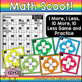 Math Scoot! 1 More, 1 Less and 10 More, 10 Less