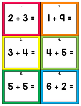 Math Scoot! Addition - Sums to 10