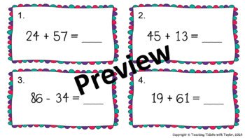 Math Scoot: Addition and Subtraction to 100