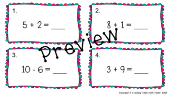 Math Scoot: Addition and Subtraction to 20