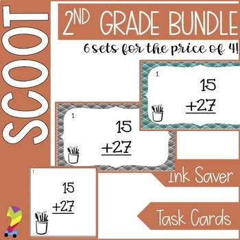 Math Scoot Task Cards Bundle 1 (Time, addition, subtraction, money)