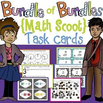 Math Scoot Bundle of Bundles (Every Set of Math Scoot Card St2  has Made)