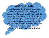 Math Scoot Game - 3rd Grade