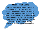 Math Scoot Game - 3rd Grade