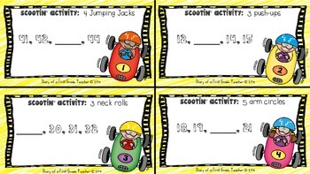 'Math Scoot' Get up, Get movin', and Get SCOOTIN with 3 Math Scoots'