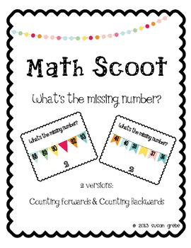 Math Scoot - Missing Numbers