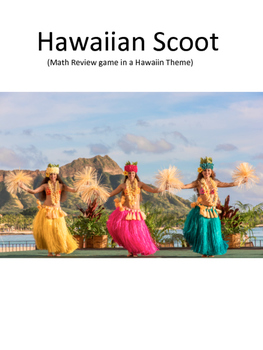 Hawaiian Math Scoot Mixed Review