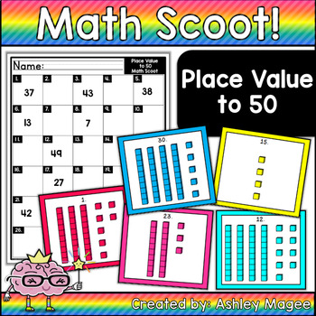 Math Scoot! Place Value to 50