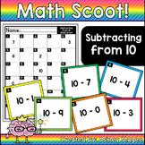 Math Scoot! Subtracting from 10