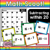 Math Scoot! Subtraction: Subtracting Within 20