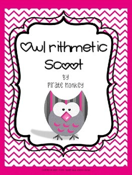 Math Scoot Subtraction and Addition Problem Solving by Pirate Monkey