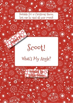 Math Scoot Task Cards - Angle Identification and Measurement