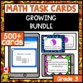 Math Paper or Digital Task Cards | Bundle Grade 3
