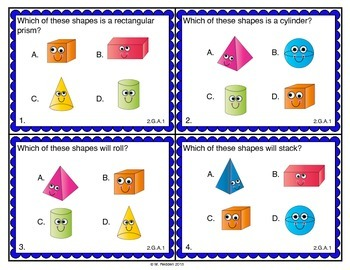 Math Scoot for 2nd Grade {Geometry and Fraction Concepts}