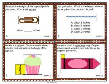 Math Scoot for 2nd Grade {Measurement}
