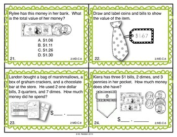 Math Scoot for 2nd Grade {Money}