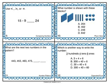 Math Scoot for 2nd Grade {Place Value and Expanded Form}