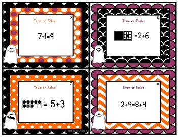 Halloween Math Scoots  (Task Cards)