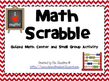 Math Scrabble for Fact Fluency Practice