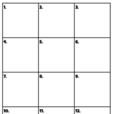Math Scratch Paper with Numbered Boxes