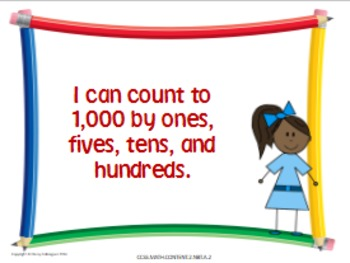 Math Second Grade Common Core Standards Posters in Kid-Friendly Language