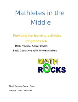 Math Secret Code Activity /  Basic operations and Facts Practice