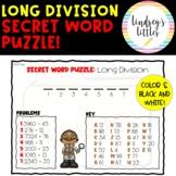 Math Secret Word Long Division Worksheet