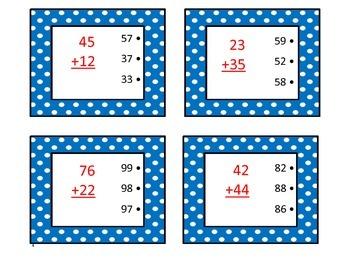 Math Self-Checking Addition Task Cards