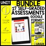 Math Self-Grading Assessment Google Classroom™ Distance Le