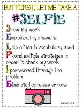 Math Selfie Graphic Organizer
