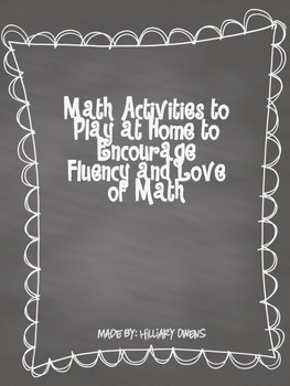 Math Send Home Activities {Primary}