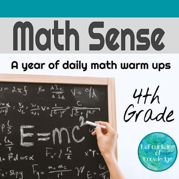 Math Sense - A Year of Daily Math Warm Ups for 4th Graders