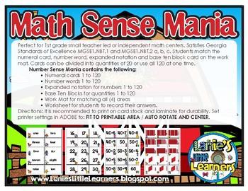 Math Sense Mania {Math Center Place Value Printables}