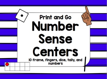 Number Sense Print and Go Center
