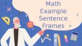 Math Sentence Frames examples