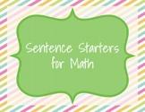 Math Sentence Starters (30 pack)