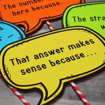 Math Sentence Starters for Meaningful Discourse