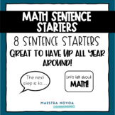 Math Sentence Starters in English