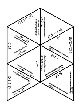 Math - Sequences and Series Review Puzzle