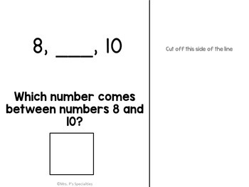 Sequencing Interactive Books (Adapted Math Books For Numbers 1 through 10)