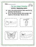 """Math - Sequencing events """"The Very Hungry Caterpillar"""""""