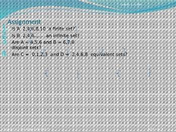 Math Sets - No Prep - Common Core - PowerPoint
