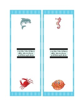 Math Seven's Eight's Smart Chute Addition Slide Dolphin Seahorse Crab Clam