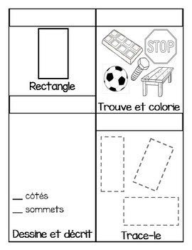 Math Shape Booklets (in French)