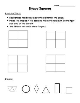 Math- Shape Square (Sudoku)