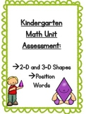 Math Shape and Position Word Assessment