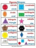 Math Shapes 2D and 3D Bilingual