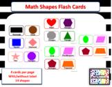 Math Shapes Flash Cards