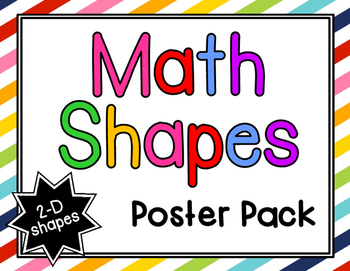 Math Shapes Poster Pack