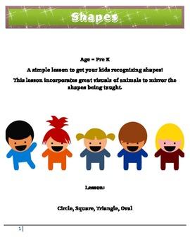 Math Shapes Pre K Lesson 1 - Circle, Square, Triangle, Oval - Fun!